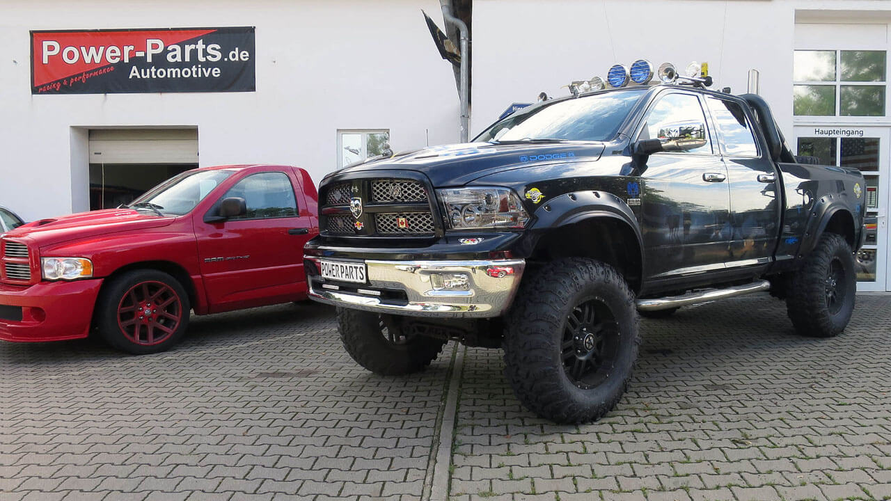 dodge ram 1500 mit 12 zoll fahrwerk power parts automotive. Black Bedroom Furniture Sets. Home Design Ideas